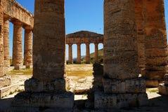 O templo Doric de Segesta Foto de Stock Royalty Free