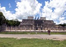 O templo dos guerreiros, Chichen Itza Imagens de Stock