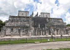 O templo dos guerreiros, Chichen Itza Fotos de Stock