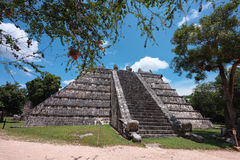 O templo dos Mesas chichen o itza Imagens de Stock