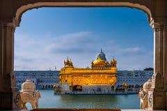 O templo dourado, Amritsar, Punjab, India fotos de stock royalty free