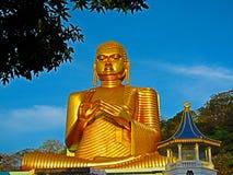 O templo dourado de Dambulla Imagem de Stock