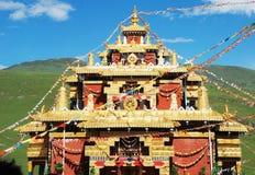 O templo dourado do lama Imagem de Stock