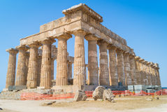 O templo E em Selinunte em Sicília é um templo grego Foto de Stock Royalty Free