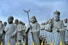 O templo 500 lohan em Bintan Indonésia maravilhosa imagens de stock