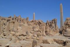 Templo do Amon-Ra do deus de Sun imagens de stock