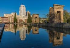 O templo maravilhoso de Dabod do Madri, Espanha foto de stock