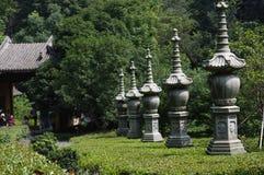 O templo na área cênico de Lingyin Foto de Stock