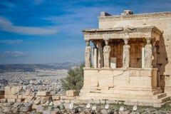 O templo na capital antiga de Grécia fotos de stock royalty free