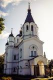 O templo no norte de Rússia Imagens de Stock