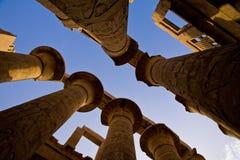 O templo Salão hipostilo de Karnak fotografia de stock royalty free