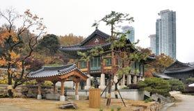 O templo Seoul de Bongeunsa Imagens de Stock