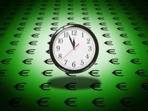 O tempo é euro Fotografia de Stock