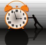 O tempo é lento e perfuração Ilustração Stock