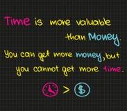 O tempo é mais valioso do que o dinheiro Fotografia de Stock Royalty Free