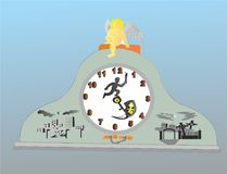 O tempo é opção número 2 ilustração stock