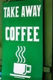 O tempo de Coffe leva embora Imagens de Stock