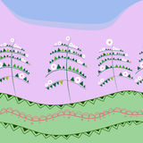 O tempo de mola… aumentou as folhas, fundo natural Imagem de Stock