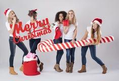O tempo do Natal está vindo Fotografia de Stock