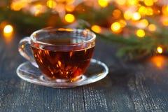 O tempo do Natal relaxa e chá fotografia de stock royalty free