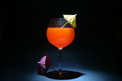 O tempo dobra a exposição do bulbo do aka do cocktail Foto de Stock
