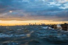 O tempo em mudança de Melbourne Fotos de Stock Royalty Free