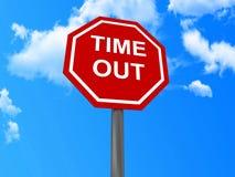 O tempo para fora assina Imagem de Stock