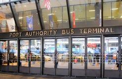 O terminal de ônibus da autoridade portuária Foto de Stock Royalty Free