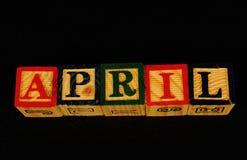 O termo abril imagem de stock