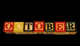 O termo outubro imagem de stock royalty free