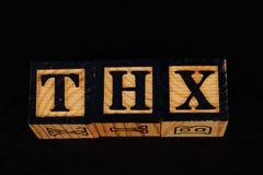 O termo THX foto de stock