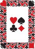 O terno da beira dos cartões Imagem de Stock Royalty Free