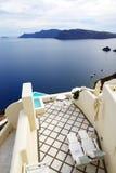 O terraço da opinião do mar no hotel de luxo Imagem de Stock Royalty Free