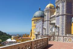 O terraço do palácio de Pena Sintra portugal Imagem de Stock