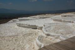 O terraço do pamukkale em Turquia Fotografia de Stock Royalty Free