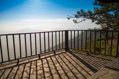 O terraço exterior, manhã, varanda, Imagem de Stock