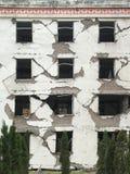 O terremoto destrói fotos de stock