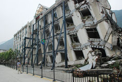 O terremoto destrói Fotografia de Stock Royalty Free