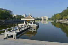 O terreno da universidade de Tianjin Foto de Stock