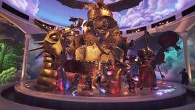O território do divertimento DreamWorks em Motiongate em parques de Dubai e os recursos armazenam o vídeo da metragem filme