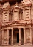 O Tesouraria na cidade de PETRA Fotografia de Stock