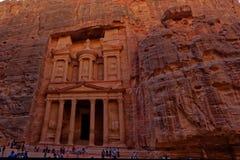 O Tesouraria Petra Jordan, al-Khazneh Fotos de Stock