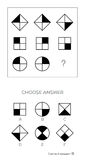 O teste do Q.I. escolhe a resposta correta ilustração stock