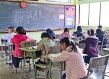 O teste nacional dos estudantes na classe 3 Foto de Stock