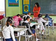 O teste nacional dos estudantes na classe 3 imagens de stock royalty free