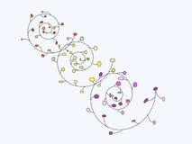 O teste padrão abstrato da espiral brilhante Imagem de Stock