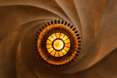 O teste padrão abstrato dos redemoinhos iluminou-se pela luz redonda Fotografia de Stock Royalty Free