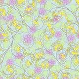 O teste padrão abstrato sem emenda com flores ornament o fundo da textura ilustração do vetor