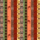 O teste padrão africano EPS10 Imagens de Stock