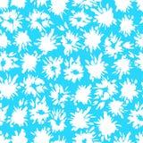 O teste padrão azul sem emenda com branco espirra e pisca ilustração royalty free